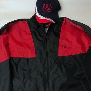 Vintage team USA bundle, hat and windbreaker🇺🇸